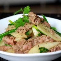Cách làm thịt bò xào củ đậu ngon giòn đúng điệu